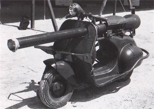 Vespa 150 с 75-миллиметровой пушкой