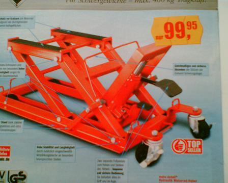 Подъёмный стол для туши мотоцикла