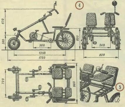 Веломобиль своими руками чертежи с четырьмя колёсами 95
