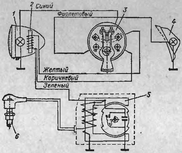 Схема зажигания рига 22