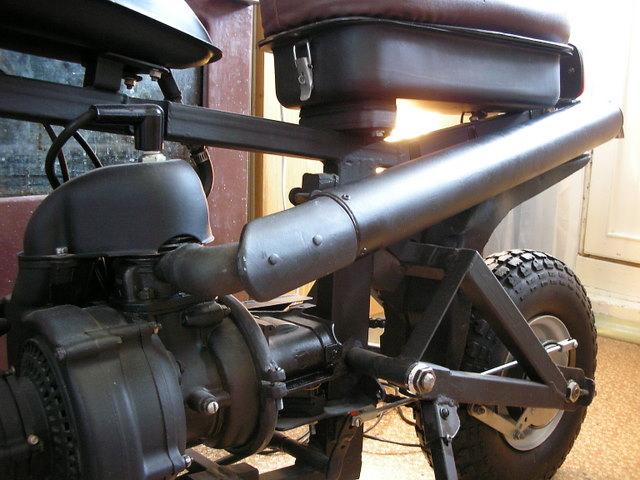 Самокат из велосипеда Стелс и бензопилы Дружба