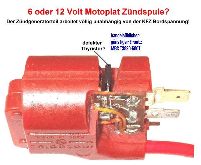 Зажигание  мотоплат  испанское  -  spain Motoplat