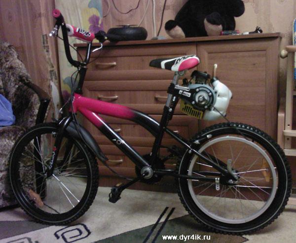 Велосипед Stels 350 с мотором Комета
