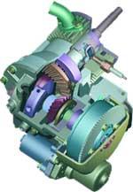 Экзотический  мотор  4 Т  с  вращающейся  гильзой.