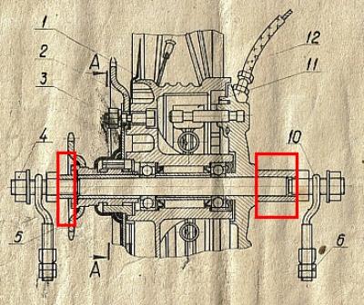 Втулка заднего колеса Рига-13