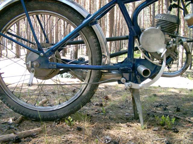 Подножки вместо педалей на мотовел