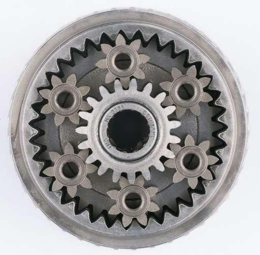 Триммерный мотор в раму.