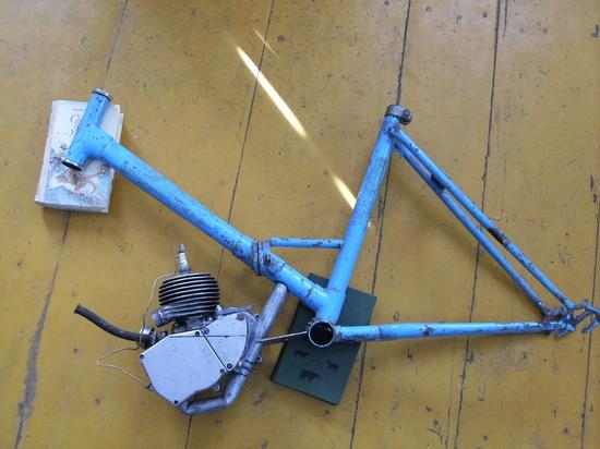 моторизация велосипеда салют