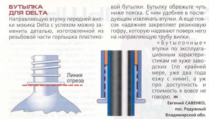 На какой глубине должны быть втулки в передней вилке Риги 7?